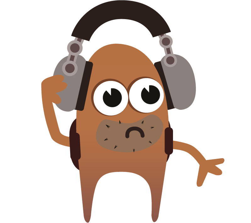 The explorer software testing monster listening to our awesome software testing podcastso